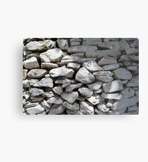 Texture of white stone wall  Metal Print