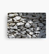 Texture of white stone wall  Canvas Print