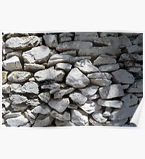 Texture of white stone wall  Poster