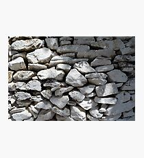 Texture of white stone wall  Photographic Print