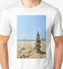 Stone small monument at the beach T-Shirt