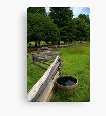 Worm Fence Canvas Print