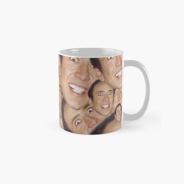 Nicolas Cage Face Collage Design Classic Mug