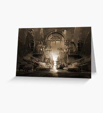Mindscape or virtual reality dreamscape Greeting Card