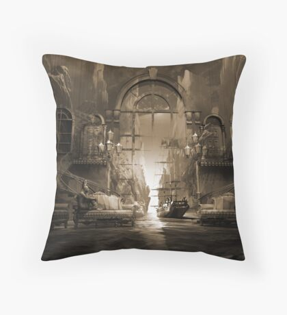 Mindscape or virtual reality dreamscape Throw Pillow