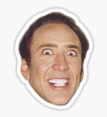 Nicolas Cage Face Pattern Design Sticker