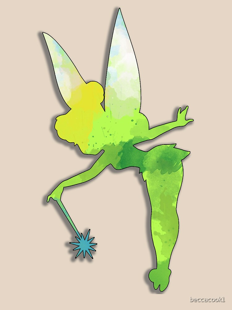 Fairy watercolor silhouette by beccacook1