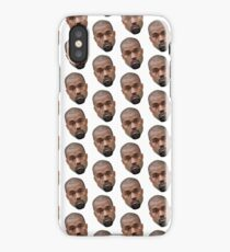 Kanye Face Pattern iPhone Case