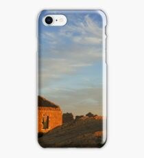 An old dilapidated building in the desert at sun set, Negev, Israel  iPhone Case/Skin
