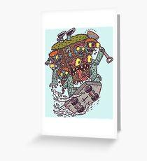Graveyard Monster Greeting Card