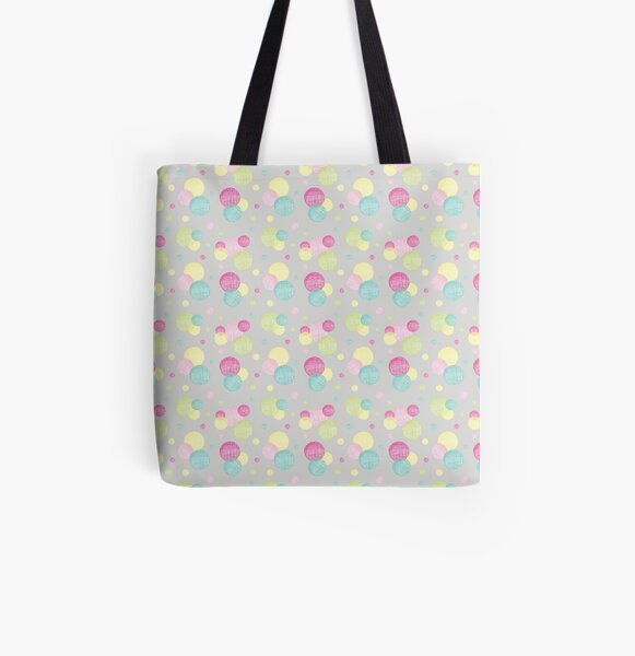 Bubbles All Over Print Tote Bag