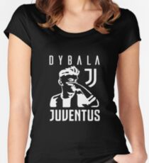 Dybala mask - white Women's Fitted Scoop T-Shirt