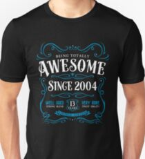 13th Birthday Gift T-Shirt Awesome Since 2004 T-Shirt