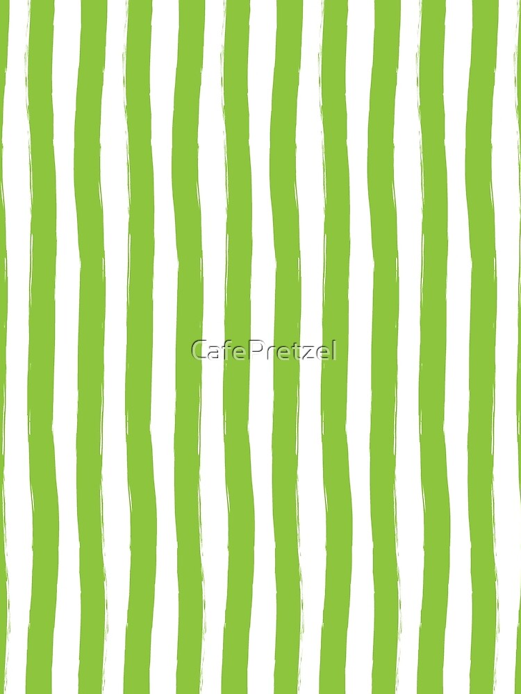 Preppy Green and White Cabana Stripes by CafePretzel