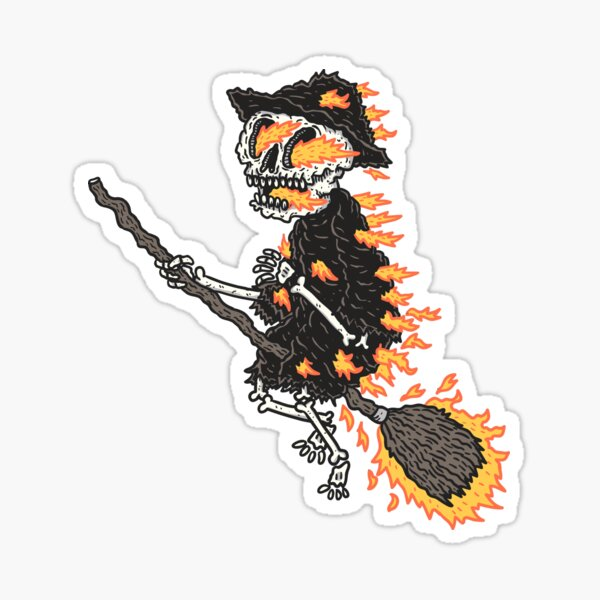 Burning Witch Sticker