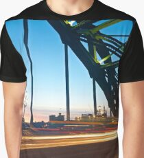 Tyne Bridge Light Trails, Newcastle Graphic T-Shirt