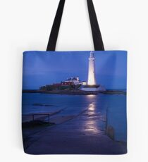 Saint Mary's Lighthouse at Whitley Bay Tote Bag