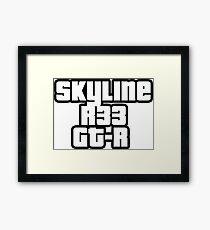 Skyline R33 GT-R Gerahmtes Wandbild