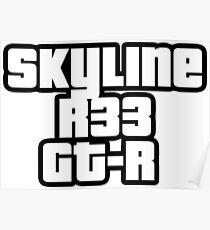 Skyline R33 GT-R Poster