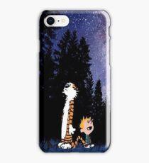 calvin and hobbes sky iPhone Case/Skin