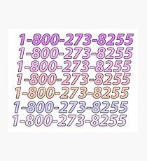 1-800-273-8255 Suicide Hotline - Logic Photographic Print