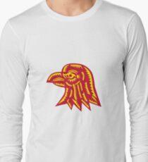 Eagle Head Side Woodcut T-Shirt