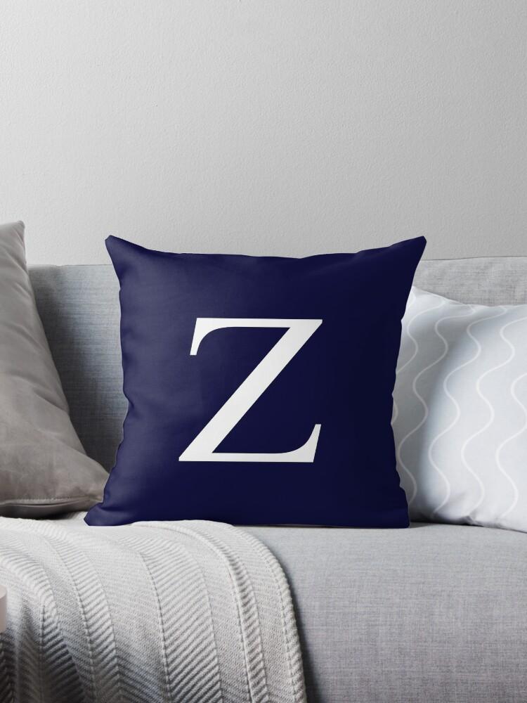 Navy Blue Basic Monogram Z by rewstudio