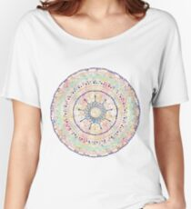 Whimsical watercolor tribal doddles mandala Women's Relaxed Fit T-Shirt