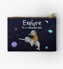 Bolso de mano ¡Explorar! A una velocidad razonable (Sloth Riding Narwhal In Space)