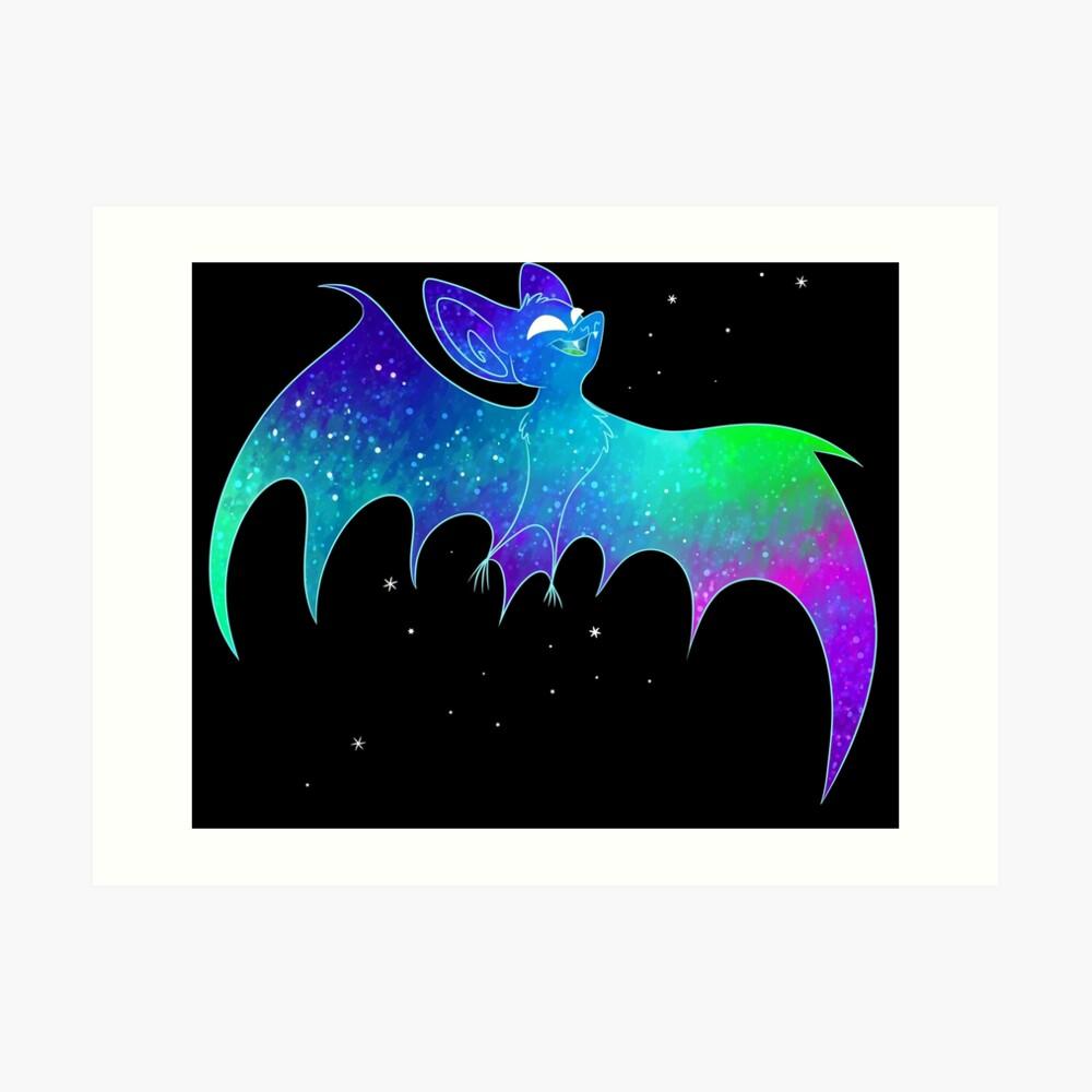 Kosmische Fledermaus Kunstdruck