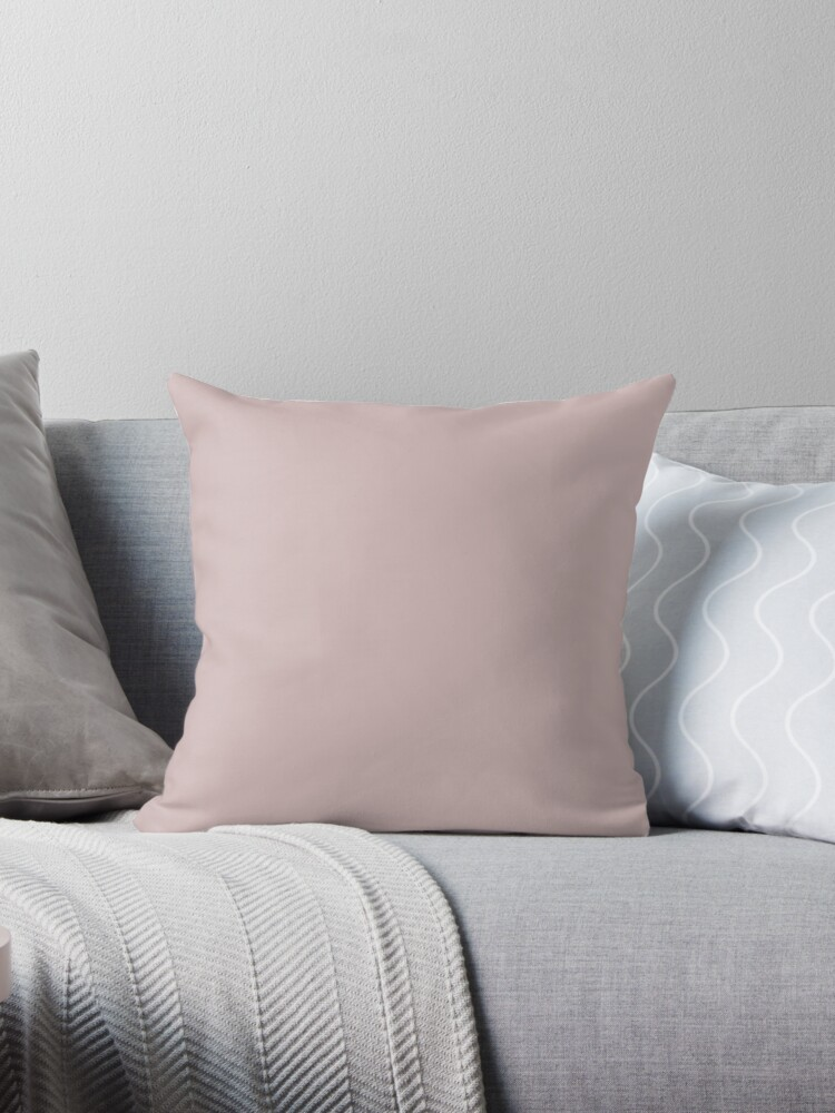 Dark Blush Color Throw Pillows By Dessiree Perez Redbubble