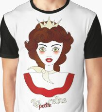 """Little queen with French designation """"la petite reine"""" - beautiful girl illustration Graphic T-Shirt"""