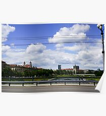 Lithuania, Vilnius old town street view  Poster