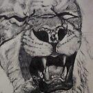 Lion Sketch by DreddArt