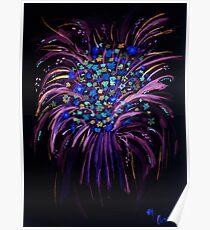 Flower Explosion negative Poster