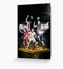 The Legends Vision Badminton Poster Greeting Card