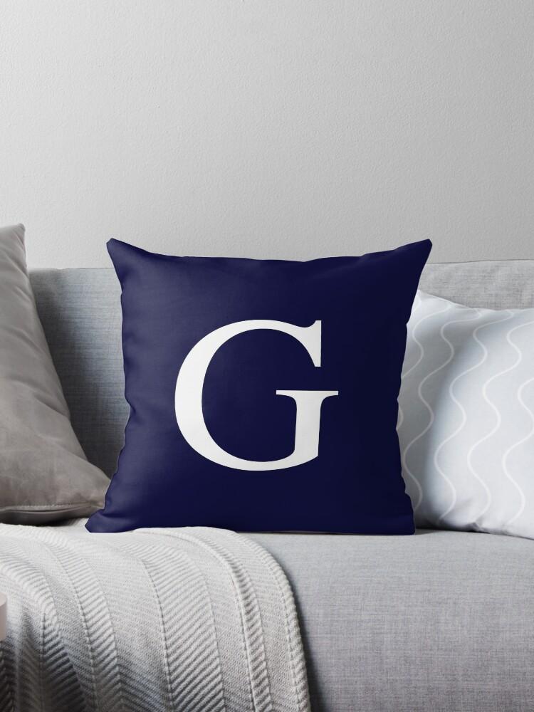Navy Blue Basic Monogram G by rewstudio