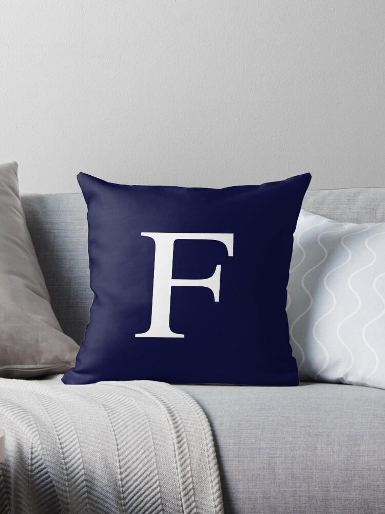 Navy Blue Basic Monogram F by rewstudio