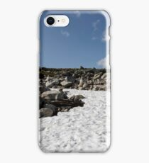 snow glade in the stone tundra norway,trolls, sky with clouds iPhone Case/Skin