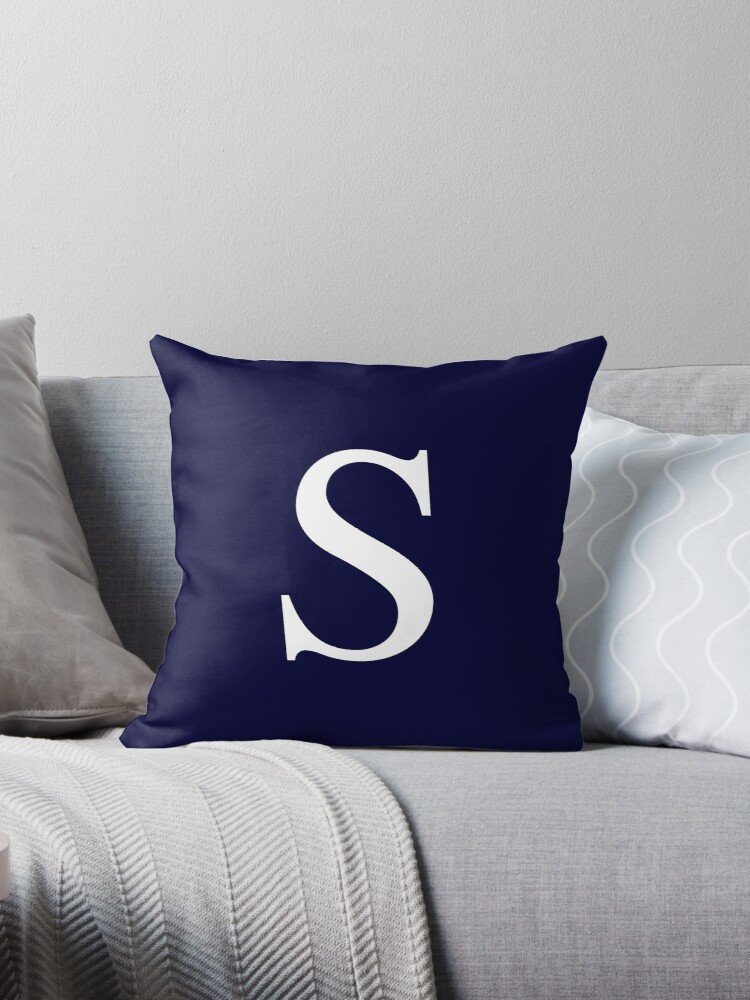 Navy Blue Basic Monogram S by rewstudio