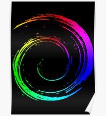 Kreis - 3D - Regenbogen - Kreis-Regenbogen Poster