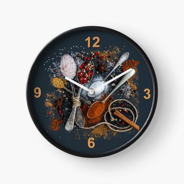Kitchen Spices Wall Clock Clock