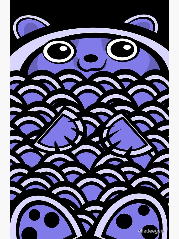 Blue Asian Bear by elledeegee