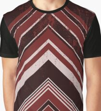 Geometric Geode - Red/Black Distressed Graphic T-Shirt