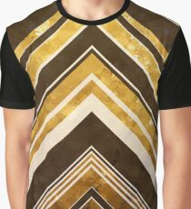 Geometric Geode - Gold Graphic T-Shirt