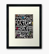 all abut words  Framed Print