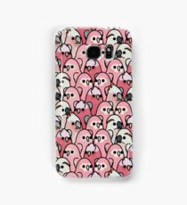 Too Many Birds! - Pink Parrot Posse! Samsung Galaxy Case/Skin