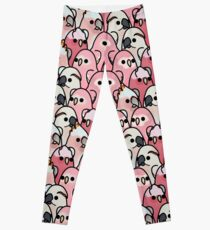 Too Many Birds! - Pink Parrot Posse! Leggings