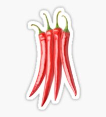 Bunch of hot peppers Sticker