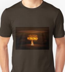 Atomic bomb realistic explosion, orange color with smoke on black background T-Shirt